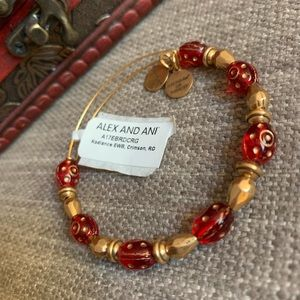 🆕 Alex & Ani Crimson Radiance Bangle Bracelet